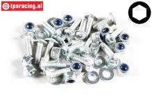 FG7058 Button screw with flange M3-L10 mm, 15 St.