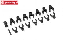 FG7100 Adjusting clips Ø6 mm, 16 st.