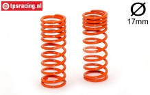 FG7192 Shock spring progressive Orange Ø2,2-L58 mm, 2 pcs.