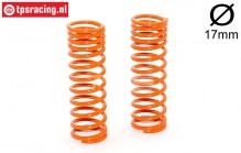 FG7196 Shock spring progressive Orange Ø17-L68 mm, 2 pcs.