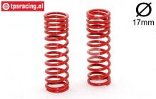 FG7198 Shock spring progressive red Ø2,4-L68 mm, 2 pcs.