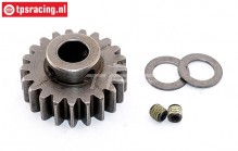 FG7431/21 Steel gear 21T wide Ø10-W12 mm, 1 St.