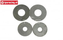 FG8495 Steel shim washer, 4 pcs