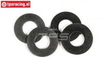 FG8600/12 Steel Shim washer Ø8-Ø16-H0,1 mm, 4 pcs
