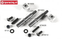 FG8610/11 Tuning Front axle with collar W9,5 mm, Set