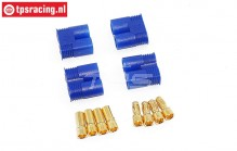 TPS0536 EC3 Gold plugs 4 pcs