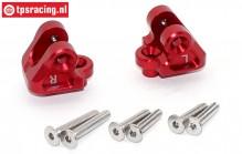 SB008-R Upper suspension arm holder red Super Baja-Rock Rey, Set