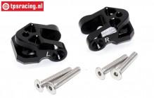 SB009-BK Lower suspension arm holder black Super Baja-Rock Rey, Set