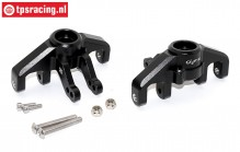 SB021-BK Steering hubs front black Super Baja Rey, Set
