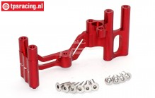 SB024-R Steering servo mount red Super Baja-Rock Rey, 1 pc.