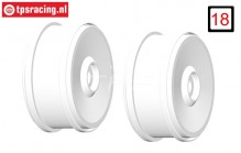 GH99H 1/6 rim GRP BU-BIG White, 2 pcs.