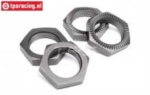 HPI102216 Wheel nut Gun-Metal Ø24 mm, 4 pcs
