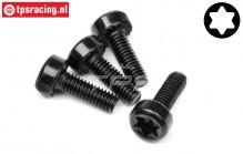 HPI15455 Torx Pan head screw M4-L12 mm, 4 pcs.