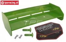 TPS85451/30 Nylon rear Wing Green HPI-Rovan, Set