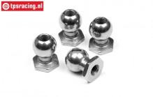 HPI86405 Steel ball joint M3-Ø6,8 mm, 4 pcs.