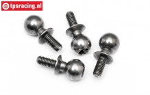 HPI86407 Steel ball joint M3-Ø6,8 mm, 4 pcs.