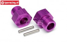 HPI86469 Wheel carrier rear Purple, 2 pcs.