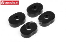 HPI86666 Gear damper rubber, 4 pcs