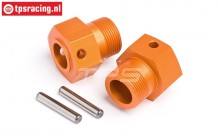 HPI87495 Wheel carrier rear Orange, 2 pcs.