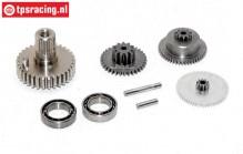 Gears complete, JX-BLSHV7132MG servo, Set