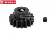 LOS252039 E-Motor Steel Gear 16T-M1,5, 1 pc.