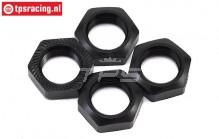 LOS252078 Wheel Nut Black SBR-2.0-SRR, 4 pcs