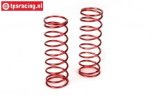 LOSB2966 Shock spring rear red 5B-5T-MINI, 2 pcs.