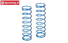 LOSB2972 Shock spring rear Bleu 5B-5T-MINI, 2 pcs.