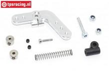 TPS0029/01 Alloy Servo horn 15T Silver DBXL-MTXL, Set
