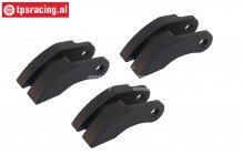 M2020/06 Mecatech Carbon Clutch Shoes, 3 pcs.