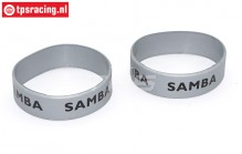 SAM7114S Samba Exhaust ring Ø50-Ø60 Silver, 2 pcs.