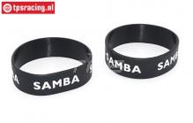 SAM7114Z Samba Exhaust ring Ø50-Ø60 Black, 2 pcs.