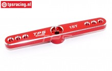 TPS0850/04 Aluminium Servo arm 15T-L73 mm Red, 1 pc.