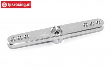 TPS0850/02 Aluminium Servo arm 15T-L73 mm Silver, 1 pc.
