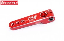 TPS0830/04 Aluminium Servo arm 15T-L47 mm Red, 1 pc.