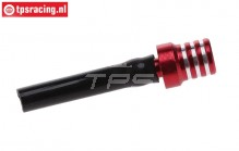TPS0710/04 Alloy Fuel tank vent and aeration Red, 1 pc
