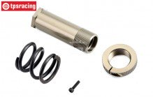 TLR251003 Servo-Saver tube & spring TLR-LOSI, set