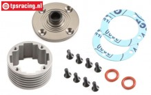 Differential housing, (5B-5T-MINI 4WD), (Aluminium), Set