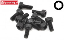 TLR255003 Cap Head Screw M2,5-L8 mm, 10 pcs