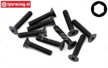 TLR255029 Countersunk Head Screw M5-L25 mm, 10 pcs