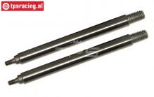 TLR353001 Tuning Shock shaft long 5B-5T-MINI, 2 pcs.