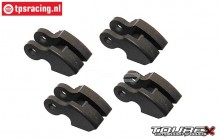 TXLR411 Tourex Big-Speed Reverse Carbon Shoes, 4 pcs.