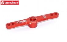 TPS0024 Aluminium Servo arm 25T- L55 mm Red, 1 pc.