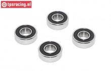 TPS0307/02 Ball bearing Belt Pully 4WD, 4 pcs.