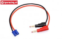 TPS58819 Charging cable Gold Banana-EC3, 1 pc.