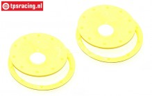 BWS59089/02Y Beadlocks Disk Neon-Yellow Ø120 mm, 4 pcs.