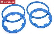 TPS5030/BL HD Nylon Beadlock Bleu, 4 pcs.