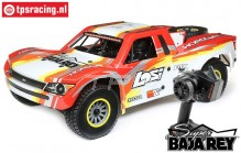 LOS05012T1 LOSI Super Baja Rey 4WD Desert Truck Brushless RTR, Red