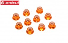 TPS1223/04 Aluminum lock nut M3 Orange, 10 pcs.