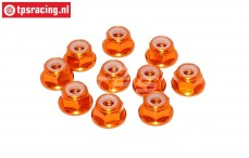 TPS1224/04 Aluminum lock nut M4 Orange, 10 pcs.